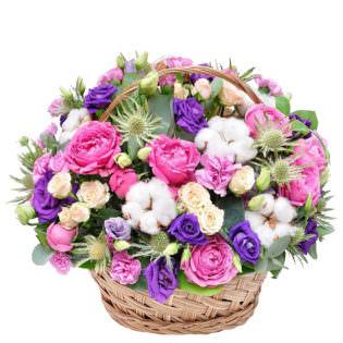 Корзина с цветами «Женский секрет»