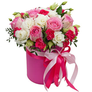 Цветы в коробке «Аврора»