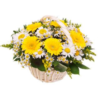 Цветы в корзинке «Дольче вита»